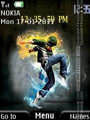 Dance Clock 01 es el tema de pantalla