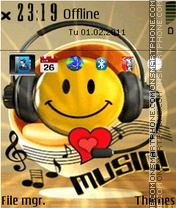 Smiley Love Music theme screenshot