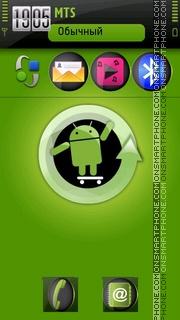 Green Android tema screenshot