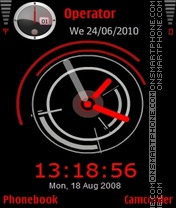 Red Clock tema screenshot