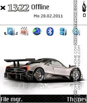Pagani Zonda 01 es el tema de pantalla