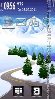 Winter Road 01 theme screenshot