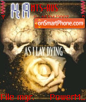 As I Lay Dying theme screenshot