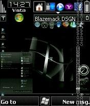 Black vista v4 9 es el tema de pantalla