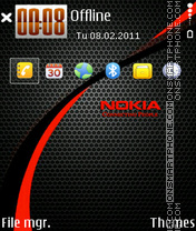 Nokia red 04 es el tema de pantalla