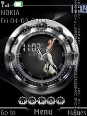 Grey Clock (AR) theme screenshot