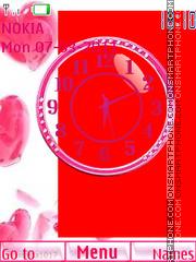 Clock Hearts theme screenshot