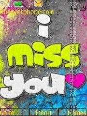 I Miss You 14 theme screenshot