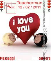 Happy Valentine es el tema de pantalla