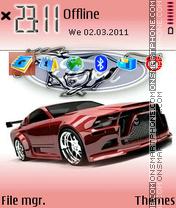 Mustang V Logo theme screenshot