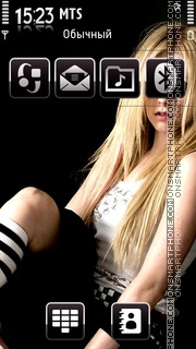 Avril Lavingne theme screenshot