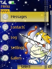 Kitten Clock theme screenshot