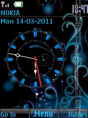 Analog Blue Clock es el tema de pantalla