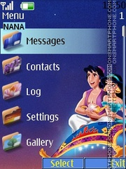 Aladdin Clock theme screenshot