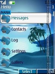 Nightmoon Clock theme screenshot
