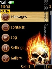 Fire Scull Clock theme screenshot