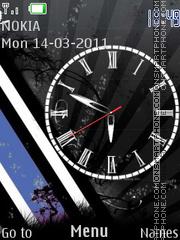 B.B.W.Clock es el tema de pantalla