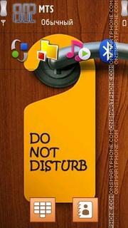 Do Not Disturb es el tema de pantalla