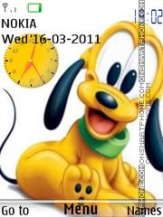 Cute Pluto Clock theme screenshot