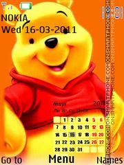 Pooh Calendar es el tema de pantalla