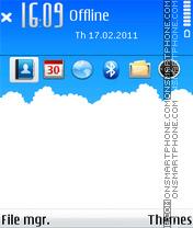 Sky cloud es el tema de pantalla