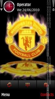Man.Utd. fire logo theme screenshot