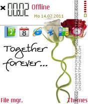 Together forever 08 es el tema de pantalla