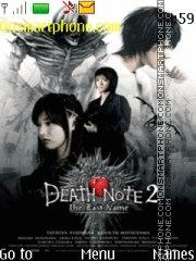 Death Note The Last Name es el tema de pantalla