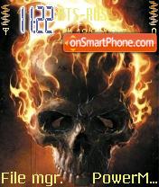 Flamed Skull theme screenshot