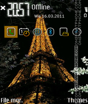 Eiffel Tower FP1 by Gray theme screenshot