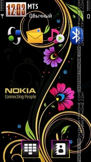 Nokia 7242 theme screenshot