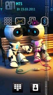 Robot Love 01 theme screenshot