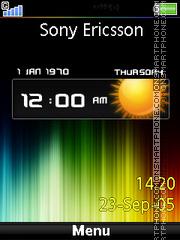 Rainbow Clock es el tema de pantalla