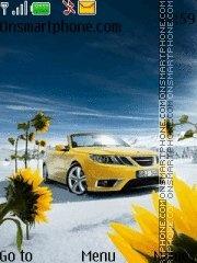 Yellow Car With Tone 01 theme screenshot