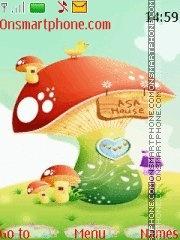 Cartoon Mushrooms theme screenshot