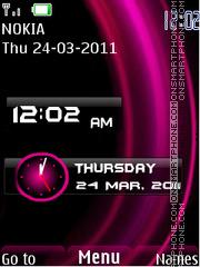 New Style Clock theme screenshot