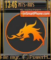 Fire Dragon theme screenshot
