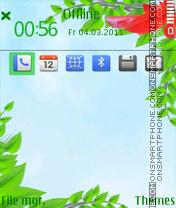 Spring Leaves es el tema de pantalla