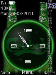 Carlsberg Clock es el tema de pantalla