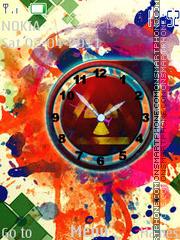 M.C. Clock es el tema de pantalla