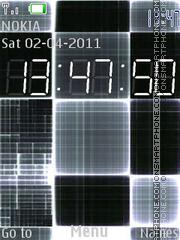 C. Clock es el tema de pantalla