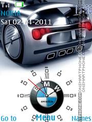 Flash Bmw Clock es el tema de pantalla