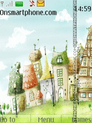 Funny Houses tema screenshot