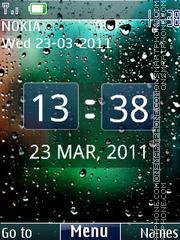 3d Rainy Digital 01 theme screenshot