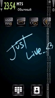 Just Live theme screenshot