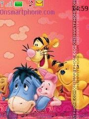 Pooh With Tone theme screenshot