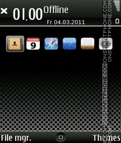 iPhone Dark E71 theme screenshot