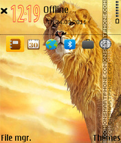 Wild cats lion theme screenshot