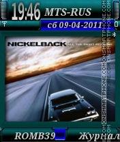 Nickelback By ROMB39 es el tema de pantalla