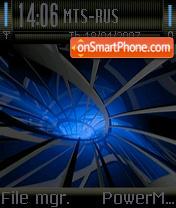 Blue Black theme screenshot